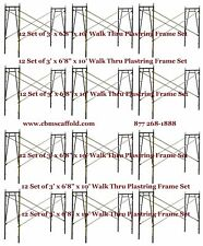 "12 Set of 3' X 6'8"" X 10' Plastering Masonry Scaffold Frame Set Cbmscaffoldcom"