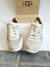 Original /ugg uggs trainers glitter size 7 or eu 39.5. White and silver.