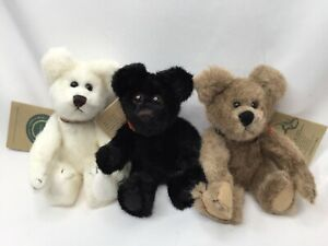 """Vintage Boyds Bears QVC Exclusive Set Humbolt Caledonia Shasta 6"""" Jointed Collar"""