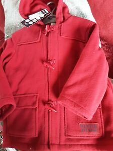 Boys New Winter Duffle Coat Size Age 4/5