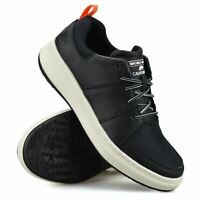 Mens Skechers Leather Memory Foam New Casual Lace Up Walking Trainers Shoes Size
