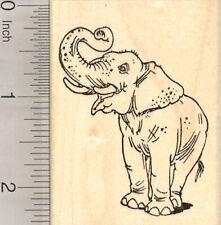 Asian Elephant Rubber Stamp, Standing, Endangered Wildlife, India, J24105 WM