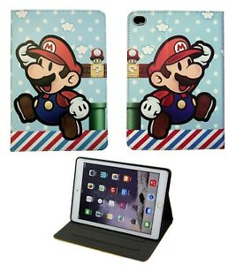 For iPad 9.7 / Pro / Air 1 2 Super Mario Bros World Classic Game New Case Cover