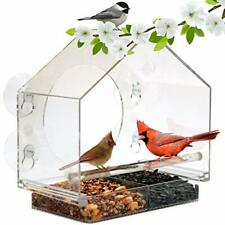 New listing Window Bird House Feeder by Nature Anywhere with Sliding Seed Holder and 4 Ex.