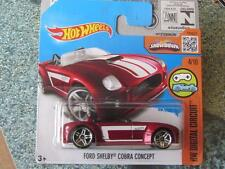 Hot wheels 2016 #024/250 ford shelby cobra concept rouge hw digital case m
