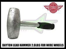LEAD HAMMER 2.6 LBS DAYTON TYPE WIRE WHEELS ADAPTER KNOCK OFF LUXOR OG ZENITH