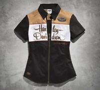 New Harley-Davidson Women's 110th Anniversary Zip-Front Shirt 96102-13VW