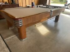 Vintage Brunswick Pool Table with Matching Cue and Ball Racks