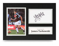 James Tarkowski Signed A4 Photo Display Burnley Autograph Memorabilia COA
