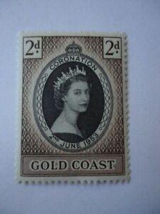 Gold Coast QEII 1953 SG165 2d Black & Sepia MNH Coronation