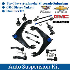13pcs Control Arm Ball Joint Sway Bar Pitman Idler Arm Tie Rod End For Chevy GMC