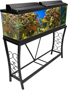 Aquatic Fundamentals Metal Aquarium Stand 55 Gallon, Black
