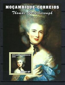 Mozambique 2001 Sc#1499  Paintings by Gainesborough-Woman in Blue  MNH S/S $6.25
