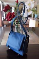 nwt JPK Paris 75 signature leather  blue flap overbody messenger (PU700