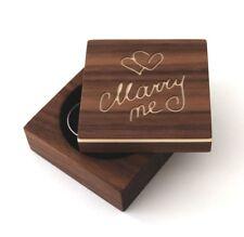 Ring Box aus Holz für Verlobungsring,Ringbox Heiratsantrag; marry me_Nussbaum