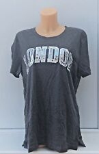 VICTORIA'S SECRET VS PINK Graphic Bling London Perfect Crew Tee Size L BNWT