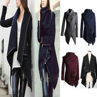 Womens Overcoat Trench Slim Winter Warm Coat Long Wool Jacket Outwear Parka