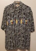 Men's Campia Moda Hawaiian Style Short Sleeve Shirt Sz L