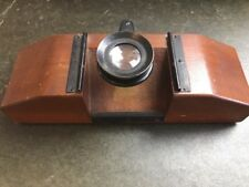 Antique Bausch & Lomb Optical Co. Magnifier Slide Micrology Instrument Wooden