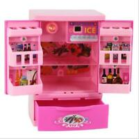 Food Play Set Mini Barbie Doll Dream House Kitchen Refrigerator Accessories