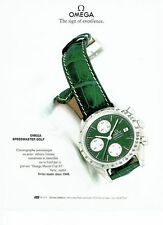 Publicité Advertising  0817  1993  montre Omega  speedmaster golf chrono