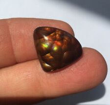 Lab Tested Intense Color Natural Fire Agat Fancy Cut 14.66ct