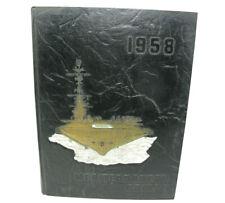 Uss Essex Cva-9 1958 Mediterranean Cruise Book Cecelia Sgro Lebanon 3000 Sorties