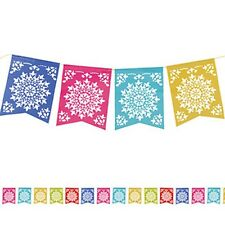 Party Supplies Birthday Mexican Fiesta Cutout Banner Flag Bunting Decorations