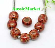 Wooden Beads Round Red Pk 200 WB17