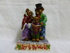 Jim Shore Boyds Christmas Caroling Trio Joy To The World 4035828 NIB