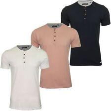 Brave Soul 'Quartz' Grandad/ Henly T-Shirt - Short Sleeved