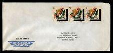 DR WHO BURUNDI TO USA FLOWER STRIP AIR MAIL C182667