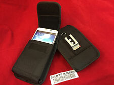 VERTICAL BLACK NYLON BELT CLIP POUCH HOLSTER CASE FOR SAMSUNG GALAXY NOTE 8