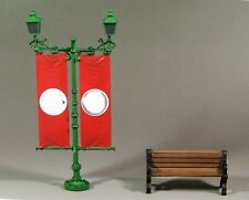 1/30 ww2 street lampost and bench
