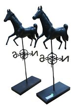 LF41774EC: Pair Horse Weathervanes On Stand