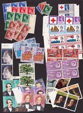 Mnh Britain Stamps Blocks: Sc# 230-3, 392/4/5/6/8/9, 683/5/6/8, 689-93, 697-700