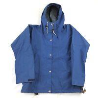 Vintage 80s North Face Blue Goretex Jacket Womens Large Anorak Brown Label