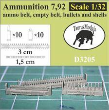 Taurus Models 1:32 Ammunition 7,92 ammo belt, empty belt etc,D3205 Wingnut Wings