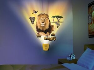 NEW Uncle Milton Wild Walls Safari Adventure Light n sound Wallscape Wall Decor