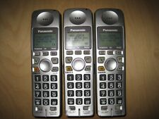 Lot of 3 Panasonic Kx-Tga101S 1.9 Ghz Cordless Expansion Handset Phone