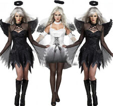 Womens Angel Wings Sexy Halloween Costume Stage Costume Female Ghost Bride Demon