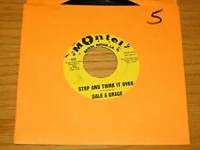 "ROCK & ROLL 45 RPM - DALE & GRACE - MONTEL 922 - ""STOP AND THINK IT OVER"""