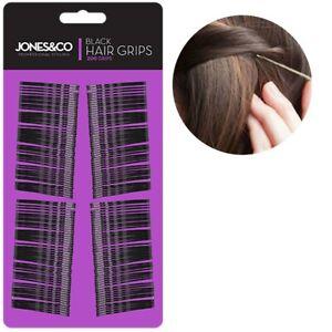 200x LONG BLACK 4.5cm BOBBY PINS Metal Non-Slip Hair Grip Kirby Clip Waved Slide