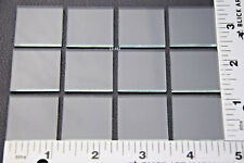 """LOT OF 12pcs THIN CLEAR 1"""" x 1"""" SQUARES OF WINDOW GLASS ABOUT 1/16"""" THICK"""