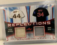 2018 Leaf In The Game Used Sports Reflections David Ortiz/Willie McCovey 1/3