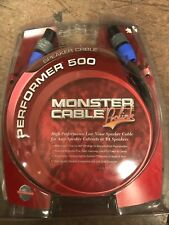 Monster Cable Performer 500 Series 10' Speaker Cable Speakon To Speakon New