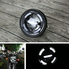 Dirt Bike Motorcycle White LED Hi/Lo Beam Headlight DRL Driving Light Waterproof