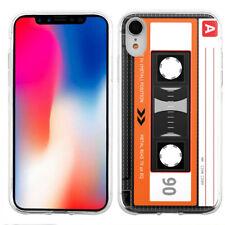 For Apple iPhone XR TPU Phone Case - Cassette Orange