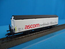 Marklin 4735,901 SBB CFF Hbils Freight Car ASCOM verbindet Menschen
