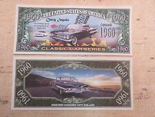 1960 Chevy Impala Classic American Cars ~ $1,000,000 One Million Dollar Bill